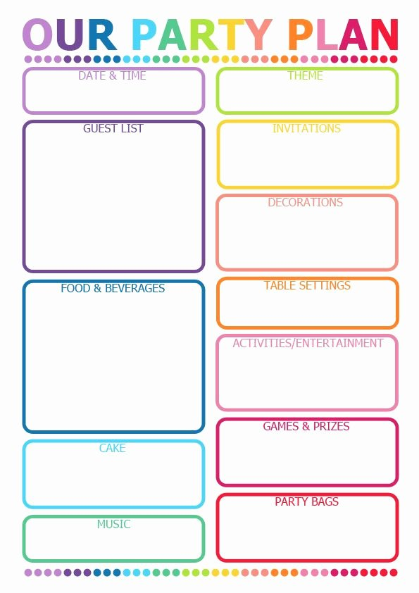 Party Planner Template Free New How to Plan A Party Printable Planner