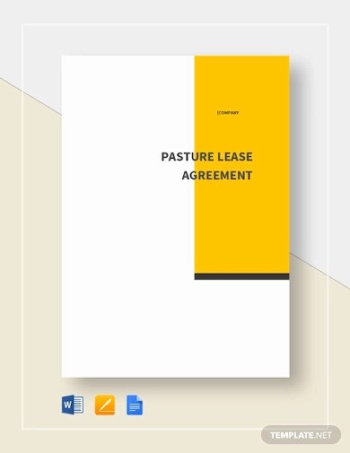 Pasture Lease Agreement Template Awesome 22 Lease Agreement Templates In Google Docs