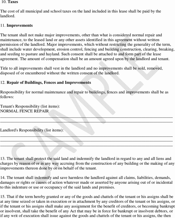 Pasture Lease Agreement Template Awesome Download Saskatchewan Pasture Lease Agreement Sample for
