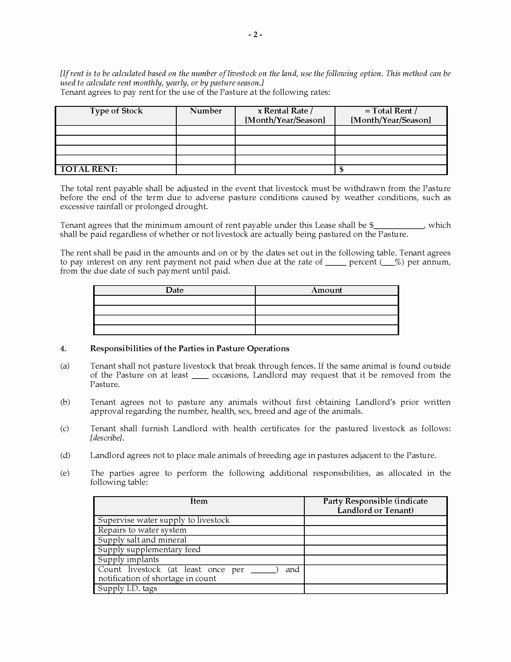 Pasture Lease Agreement Template Awesome Tario Pasture Lease