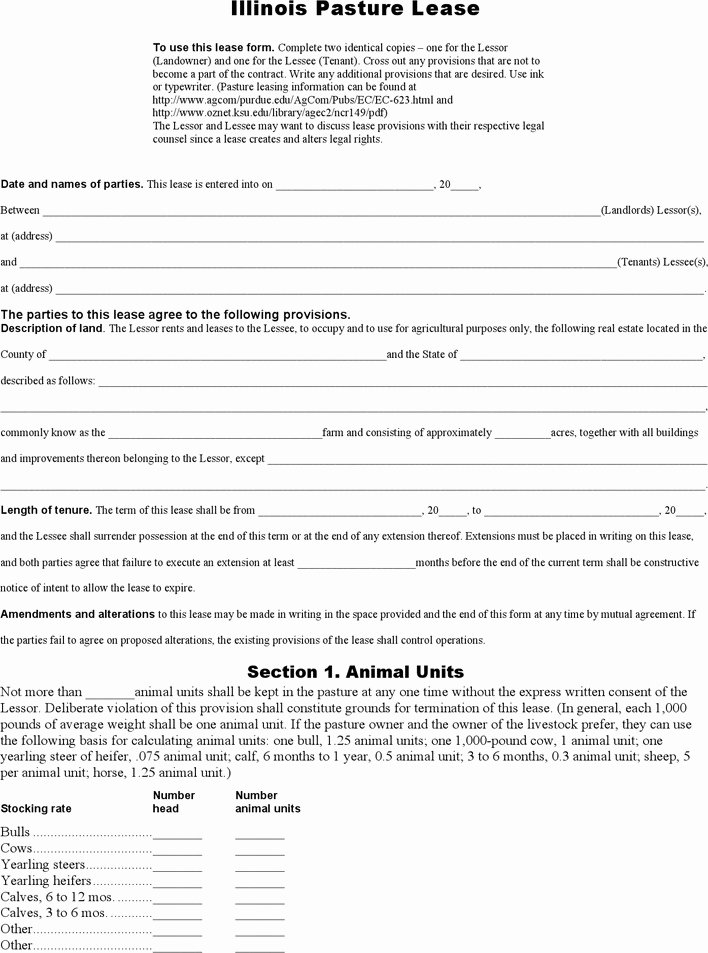Pasture Lease Agreement Template Beautiful 3 Pasture Lease Agreement Free Download