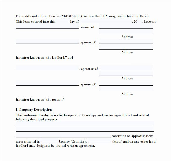 Pasture Lease Agreement Template Beautiful Pasture Lease Agreement Template 10 Download Free