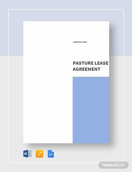 Pasture Lease Agreement Template Elegant Pasture Lease Agreement Template 10 Download Free