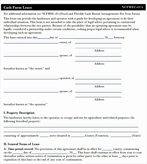Pasture Lease Agreement Template Lovely Pasture Lease Agreement Template 10 Download Free