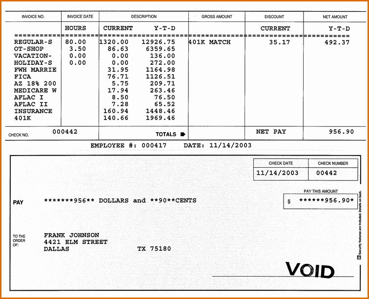 Pay Stub Template Pdf Fresh 7 Pay Stub Template Pdf