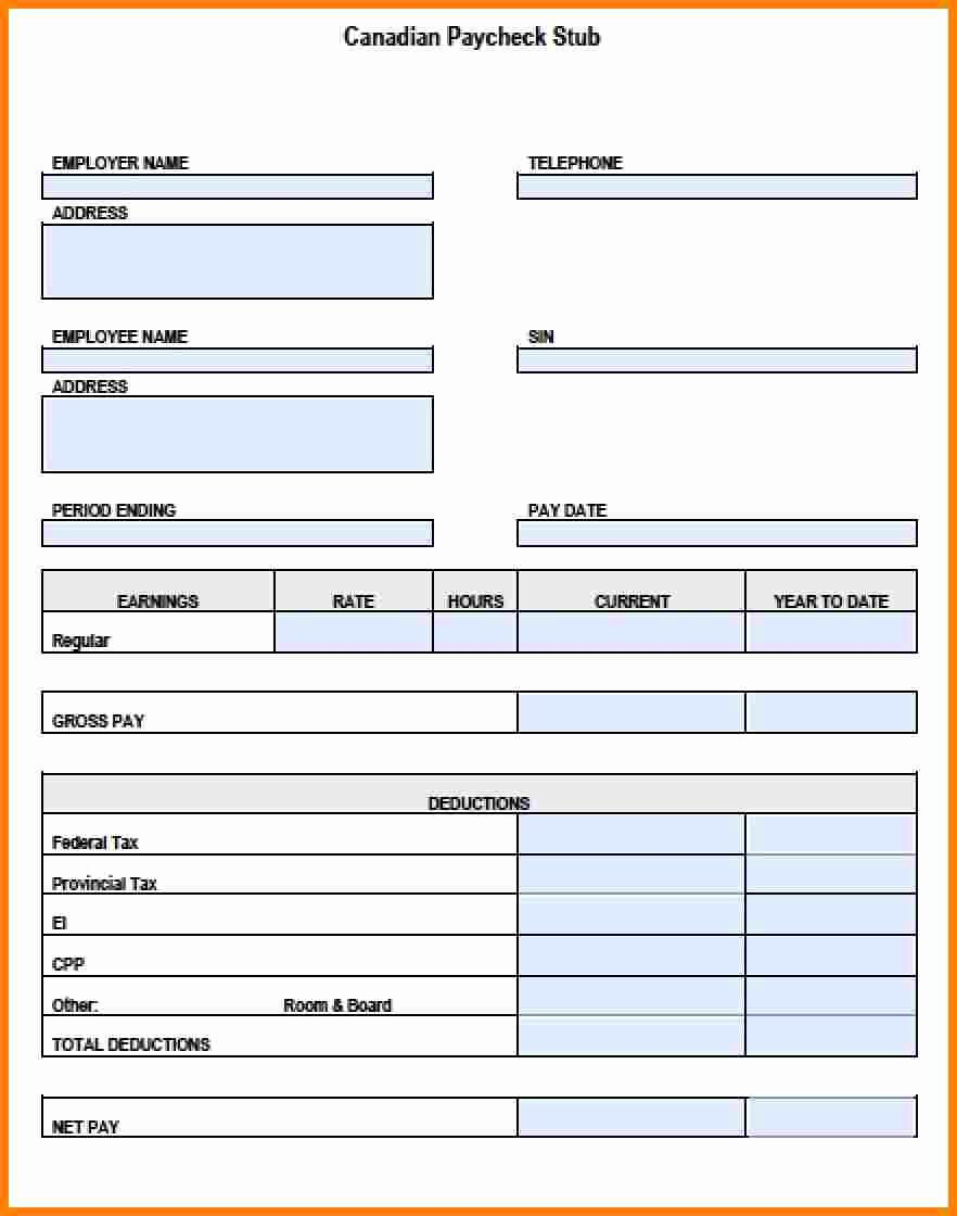 6 pay stub template pdf