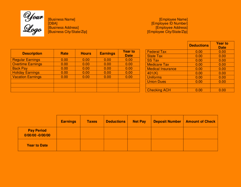 Pay Stub Template Pdf Lovely 6 Pay Stub Template Pdf