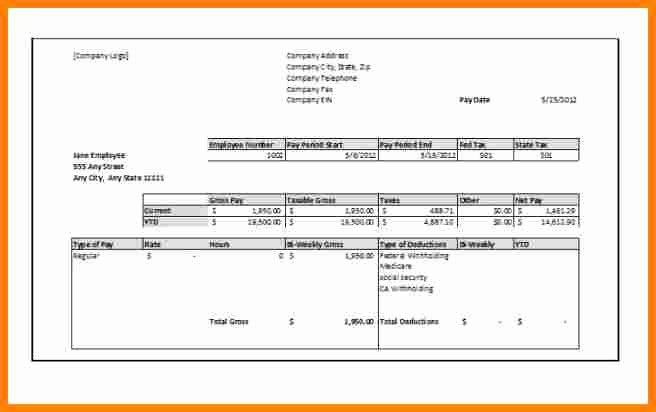 Pay Stub Template Pdf Lovely 9 1099 Pay Stub Template Free