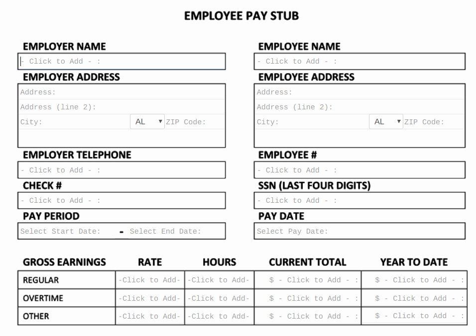 Pay Stub Template Pdf Unique Free Pay Stub Template Tips & What to Include