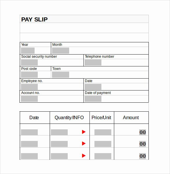 Pay Stub Template Word Document Beautiful Pay Stub Template 15 Download Free Documents In Pdf