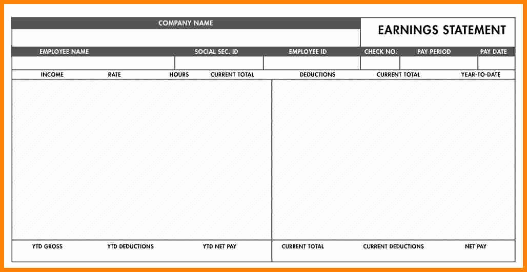 Pay Stub Template Word Document Luxury 5 Free Paycheck Stub Template Word