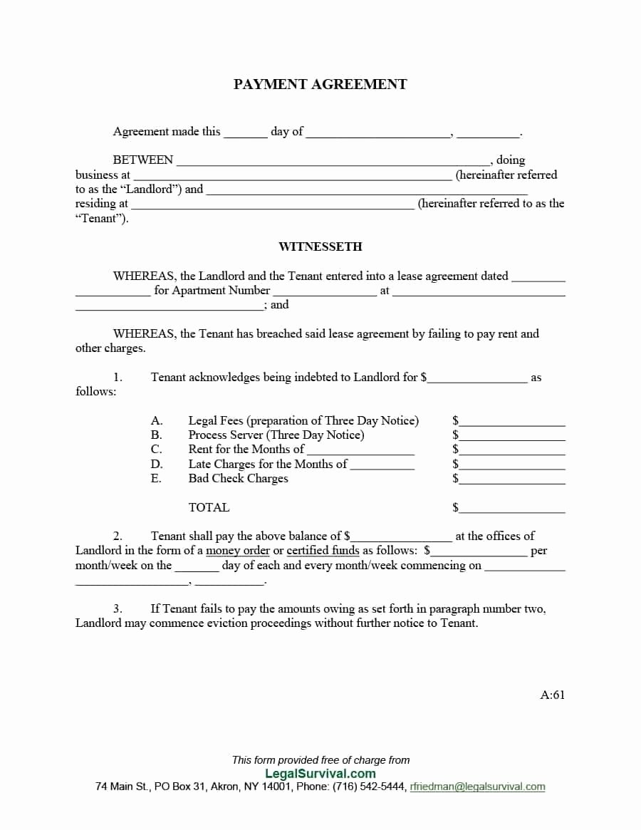 Payment Agreement Contract Template Best Of Payment Contract Template 2018