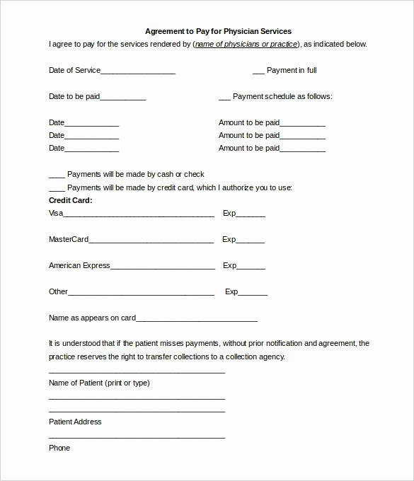 Payment Agreement Contract Template Lovely Payment Plan Contract Template Free Download
