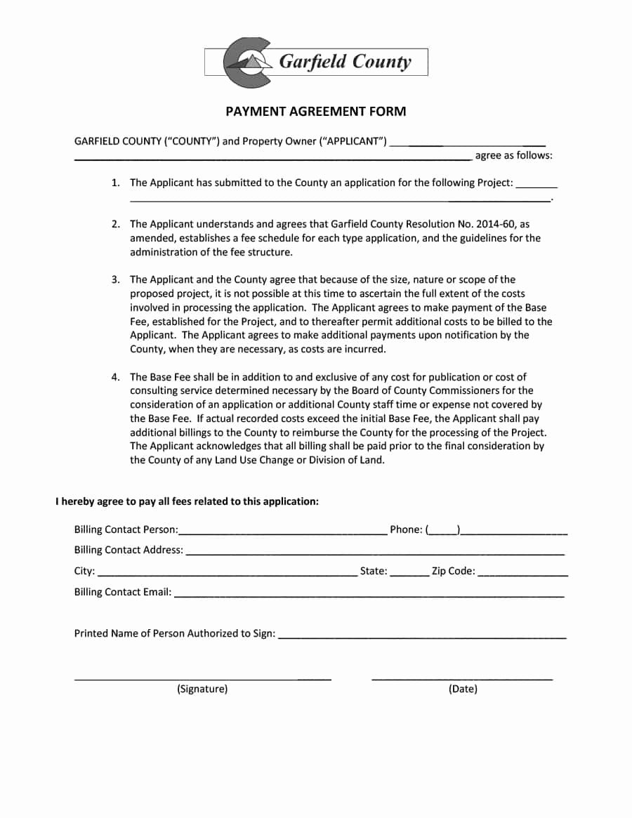 Payment Agreement Contract Template Luxury Payment Agreement 40 Templates & Contracts Template Lab