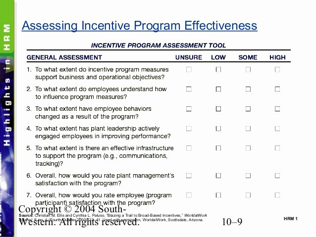Performance Based Bonus Plan Template Best Of Chapter 10 Pay for Performance Incentive Rewards