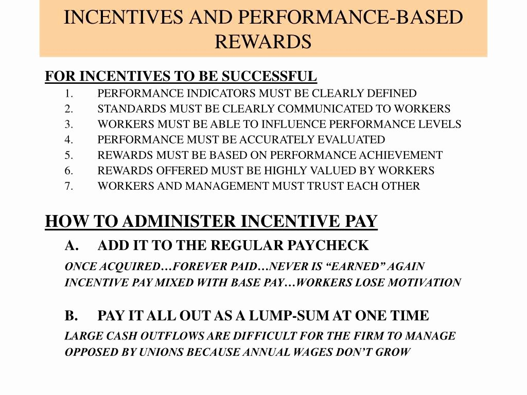 Performance Based Bonus Plan Template Luxury Ppt Managerial Approaches to Motivation Powerpoint
