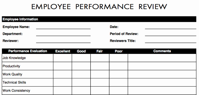 Performance Evaluation Template Word Luxury 70 Free Employee Performance Review Templates Word Pdf