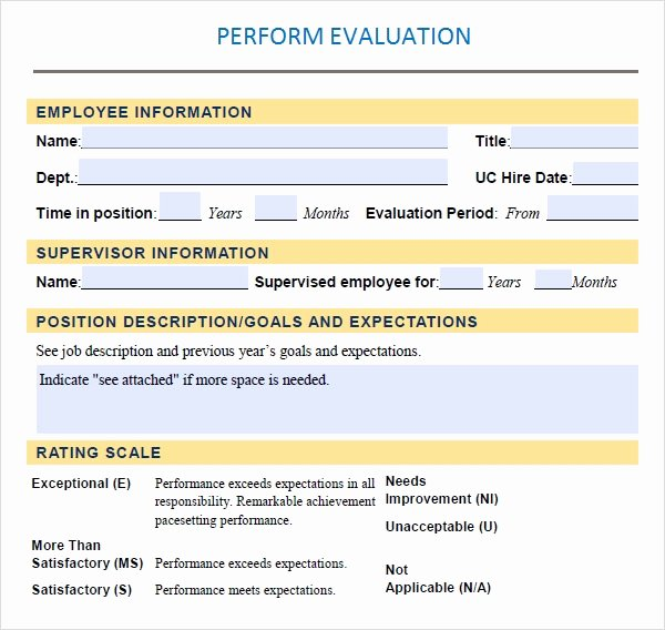 Performance Evaluation Template Word Luxury Performance Evaluation 9 Download Free Documents In Pdf