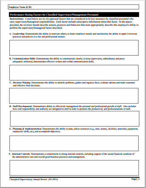 Performance Evaluation Template Word Unique Ms Word Performance Appraisal form Template