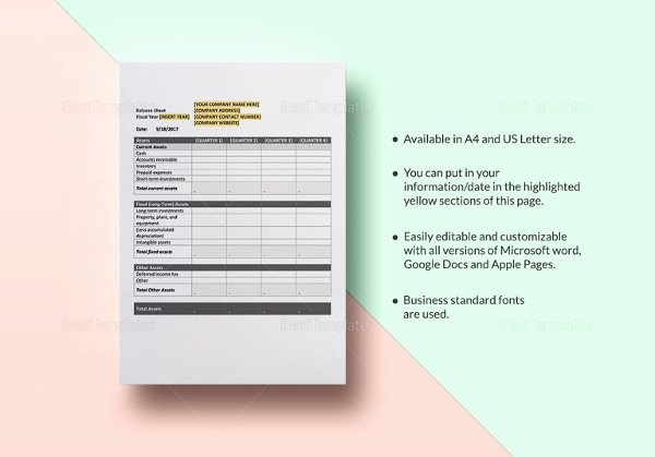 Personal Balance Sheet Template Excel Awesome Personal Balance Sheet Template 16 Free Word Excel