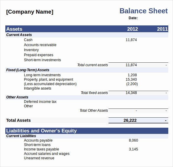 Personal Balance Sheet Template Excel Awesome Sample Balance Sheet 20 Documents In Word Pdf Excel