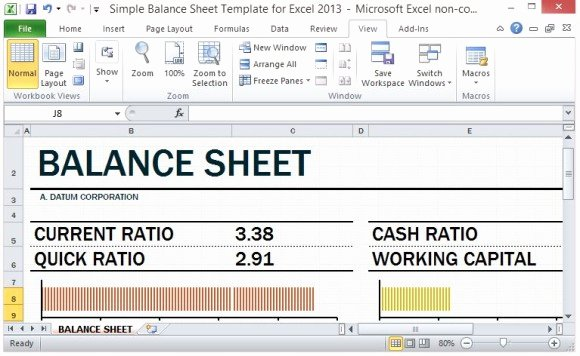 Personal Balance Sheet Template Excel Inspirational Know Your Pany or Personal Balance Sheet Fppt