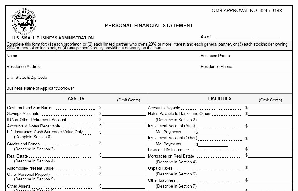 Personal Financial Statement Template Free Awesome Free Personal Financial Statement Template 2016