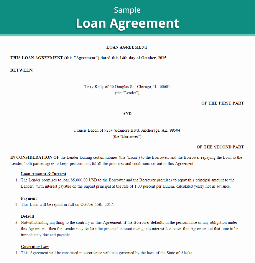 Personal Loan Agreement Template Word Best Of 20 Loan Agreement Templates Word Excel Pdf formats