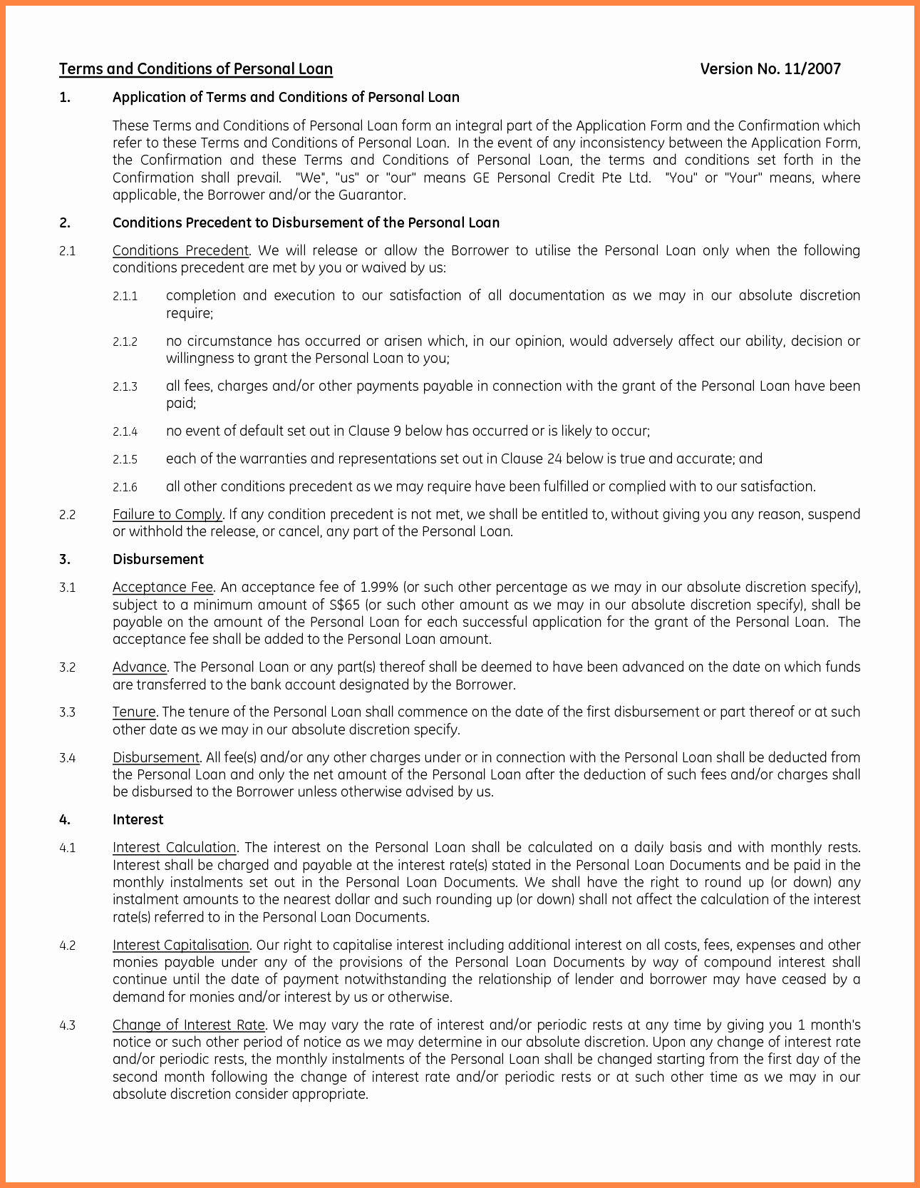Personal Loan Agreement Template Word Fresh 8 Personal Loan Agreement Template Microsoft Word
