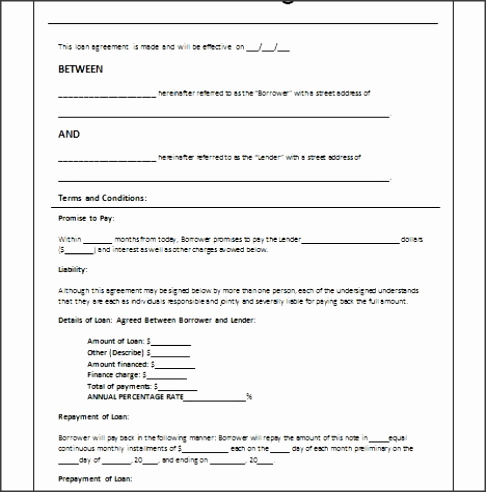 Personal Loan Agreement Template Word Inspirational 9 Personal Loan Agreement Template Microsoft Word