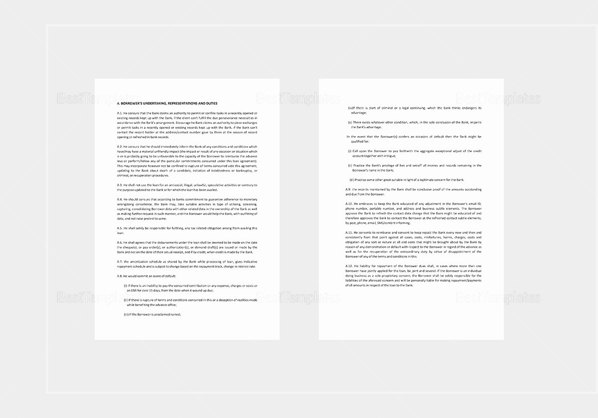 Personal Loan Agreement Template Word Inspirational Personal Loan Agreement Template In Word Apple Pages