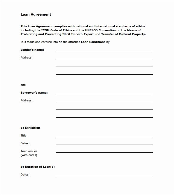 Personal Loan Agreement Template Word Luxury Free 12 Sample Standard Loan Agreement Templates In