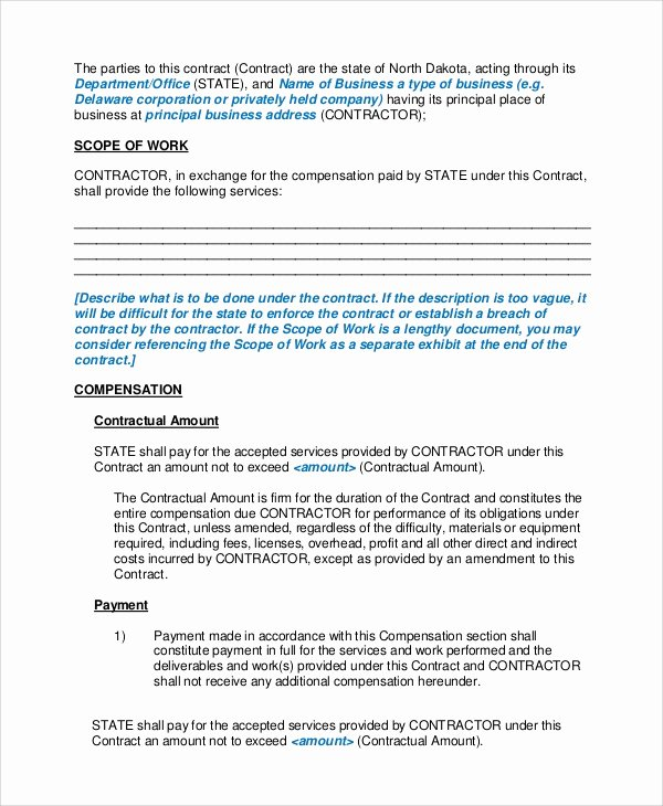Personal Service Contract Template Elegant Sample Personal Service Contract 6 Documents In Word Pdf
