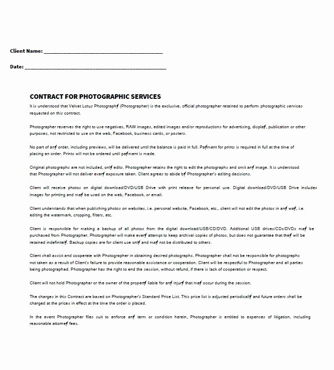 Personal Services Contract Template Elegant 40 Great Contract Templates Employment Construction