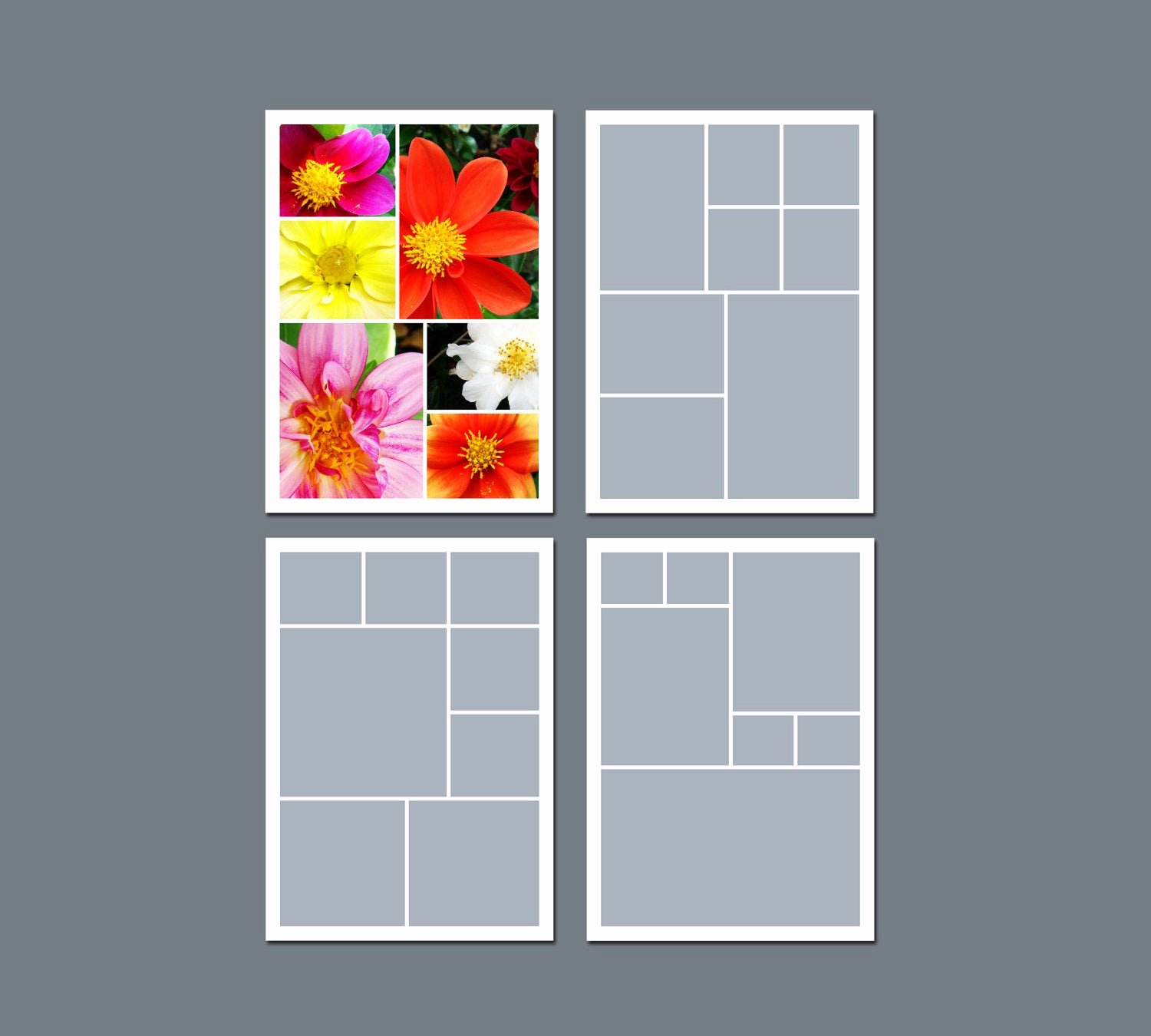 Photo Collage Template Word Fresh Instant Download Collage Template Digital Template