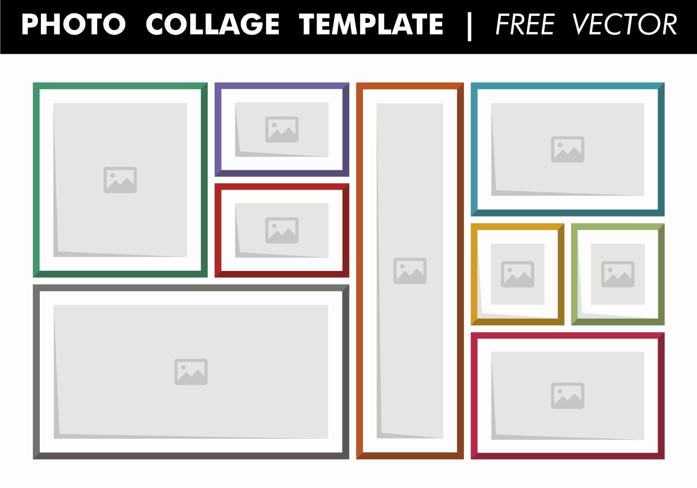 Photo Collage Template Word Inspirational Collage Template Free Vector Download Free Vector