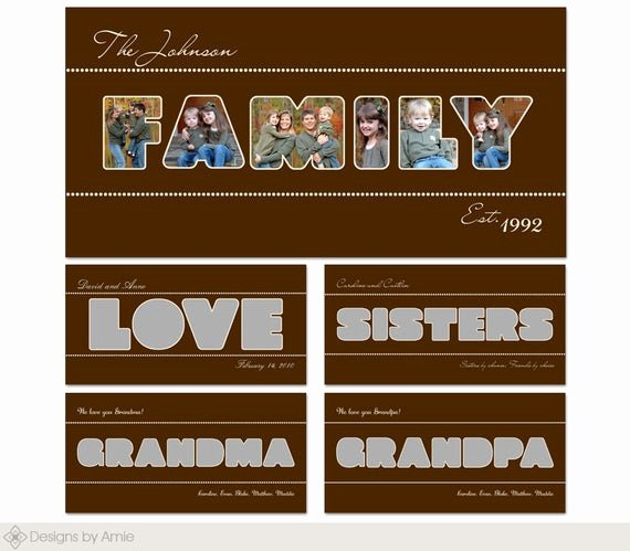 Photo Collage Template Word Lovely Family Word Set Collage Storyboard Wall Art Templates