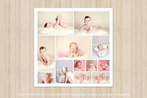 Photo Collage Template Word New 12x12 Collage Template Templates Creative Market