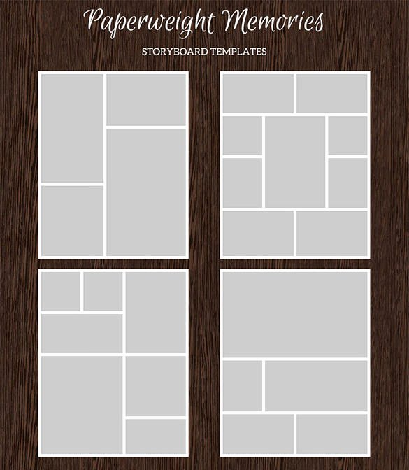 Photo Collage Template Word Unique 82 Storyboard Templates Pdf Ppt Doc Psd