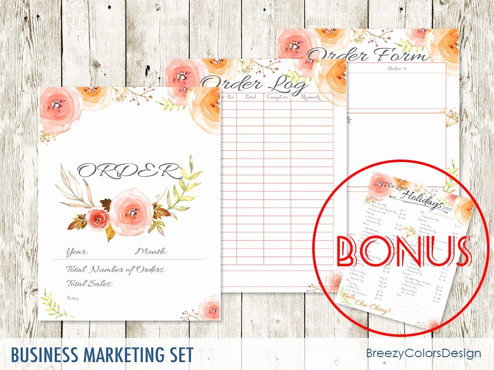 Photo Package order form Template Best Of Flower Branding Package order form Template Printable Set Of