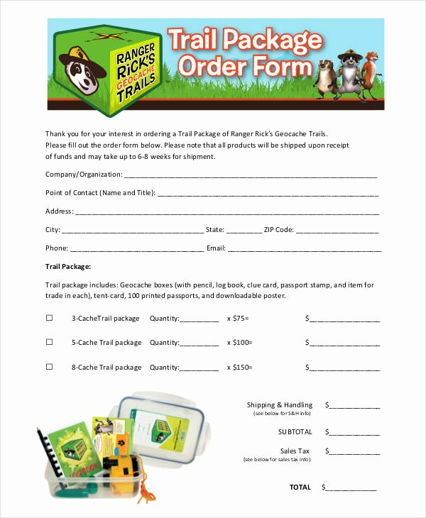 Photo Package order form Template Lovely 12 Package order forms Free Sample Example format