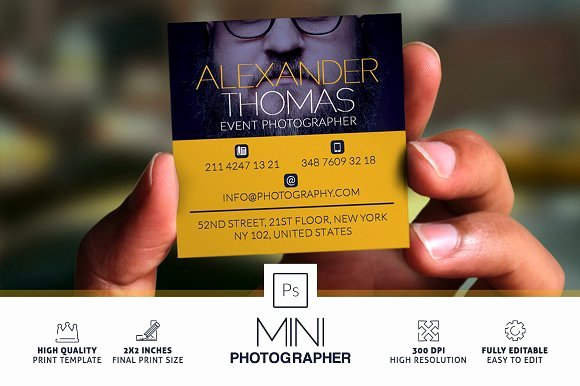 Photography Business Plan Template Elegant Mini Grapher Business Card Business Card Templates