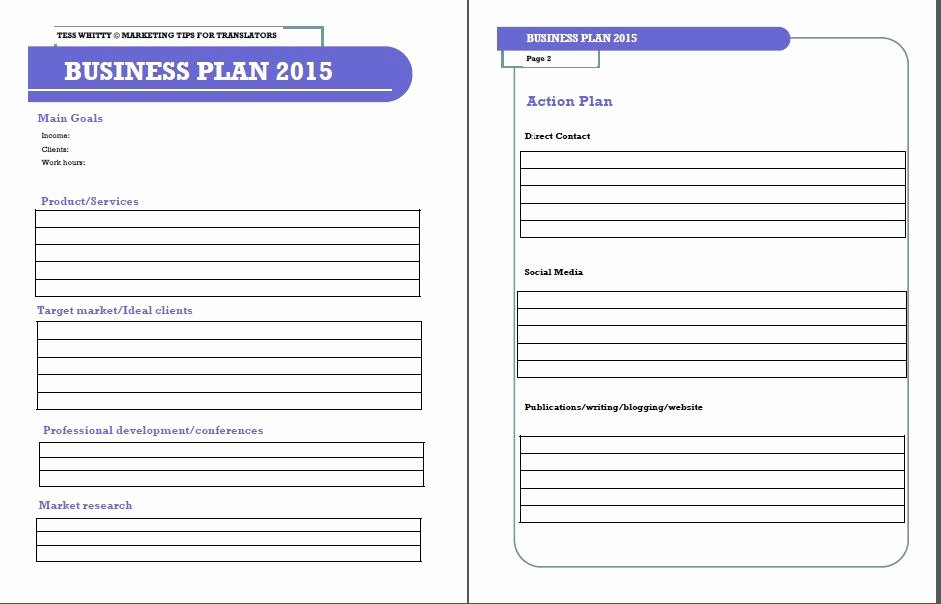 Photography Business Plan Template Fresh Business Plan Template