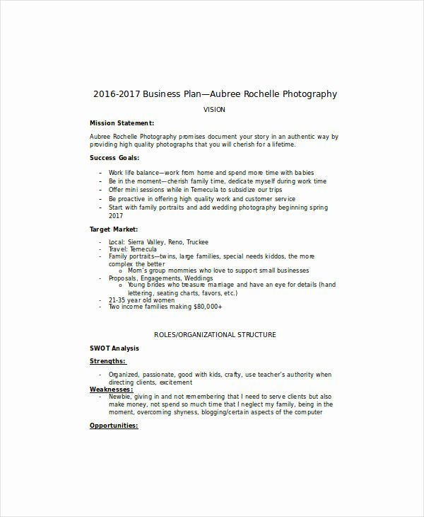 Photography Business Plan Template Luxury 13 Wedding Graphy Business Plan Templates Pdf