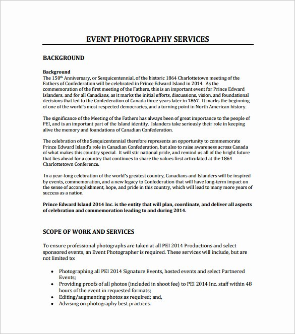 Photography Business Plan Template Unique Graphy Proposal Template