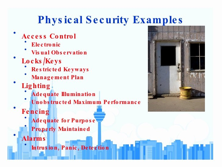 Physical Security Plan Template Elegant Physical Security assessment