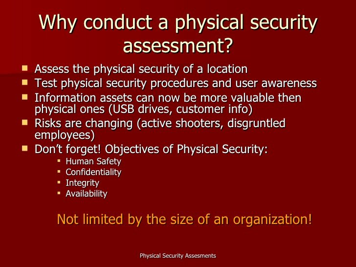 Physical Security Plan Template Elegant Physical Security assessments