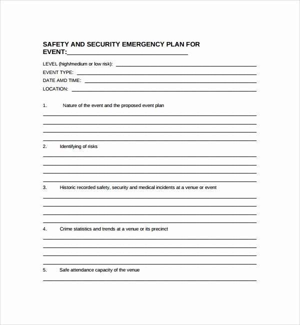 Physical Security Plan Template Elegant Sample Security Plan Template 11 Free Documents In Pdf