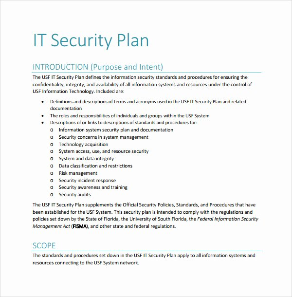Physical Security Plan Template Fresh 22 Of Physical Security Plan Template