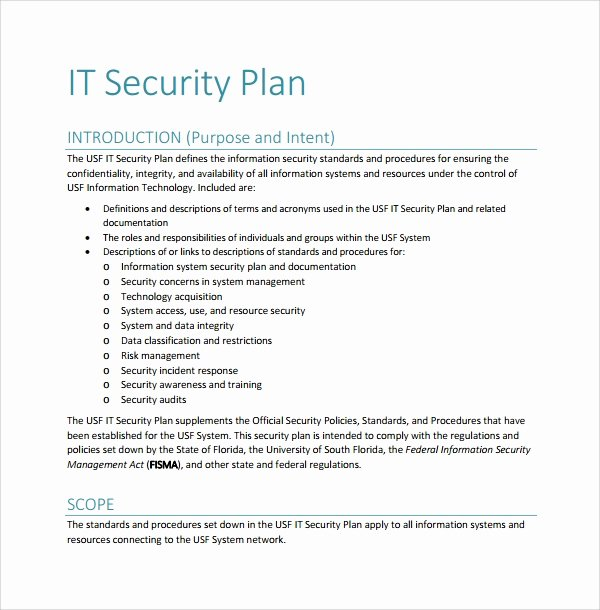 Physical Security Plan Template Lovely 10 Security Plan Templates